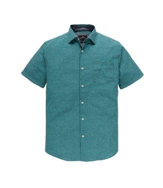 Vanguard Short Sleeve Shirt Check Stones Cro lush blue VSIS193432