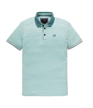Vanguard Short sleeve polo Pique two tone st lush blue VPSS193664