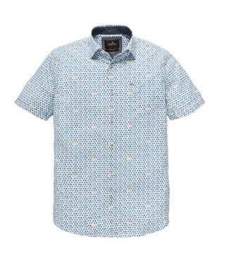 Vanguard Short Sleeve Shirt Bellman Stripe Bright White VSIS192402