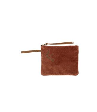 Zusss Make-up tasje fluweel bruin 06MF19v