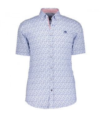 State of Art Shirt Printed Poplin wit 264-19101-1157