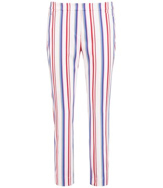 Taifun CROP LEISURE TROUSER:SKINNY L OFF-WHITE PATTERNED 320048-17129