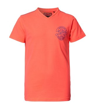 Petrol Industries T-shirt ss v-neck oranje M-HS19-TSV703