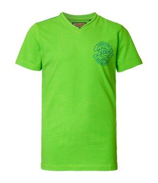 Petrol Industries T-shirt ss v-neck groen M-HS19-TSV703
