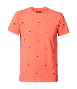 Petrol Industries T-shirt r-neck oranje M-HS19-TSR715