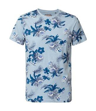 Petrol Industries T-shirt ss r-neck blauw M-HS19-TSR714