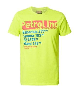 Petrol Industries T-shirt ss r-neck geel M-HS19-TSR704