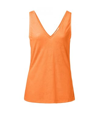 Yaya SINGLET JAQUARD BRIGHT ORANGE 1909125-915