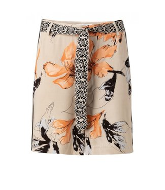 Yaya HIGHT WAIST PRINTED SHORT SAND DESSIN 123103-915