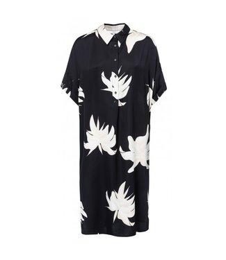 Yaya BLOUSE DRESS JUNGLE FLOWER PRI BLACK DESSIN 1801110-915