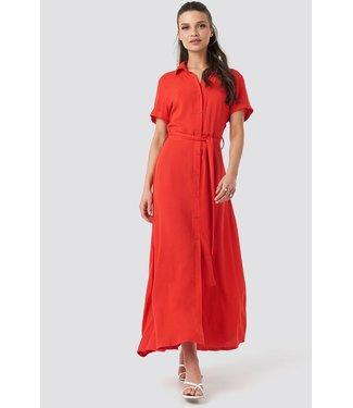 NA-KD Short sleeve maxi dress rood 1018-002826