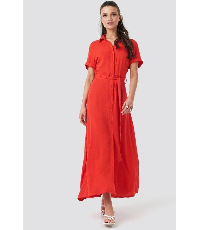 Maxi Jurk Rood.Short Sleeve Maxi Dress Rood 1018 002826 Meneer Mevrouw Hoekstra