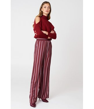 NA-KD High waist wide pants rood 1018-000992