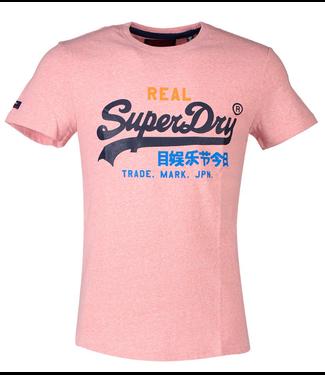 Superdry Vintage logo tri tee roze M10157IU
