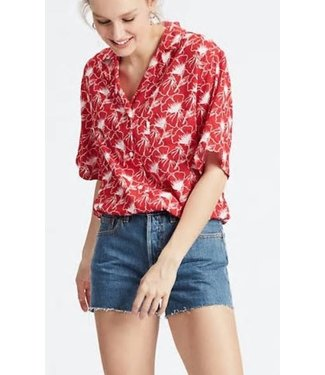 Levi's Paloma shirt flipped floral rood 77647-0001