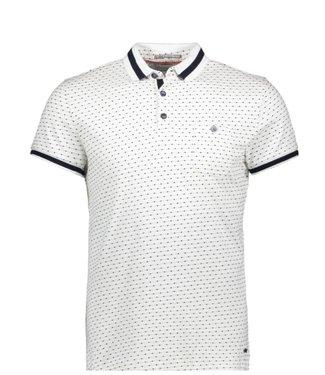 No Excess Polo, S/Sl, jacquard dots, contrast white 90370403