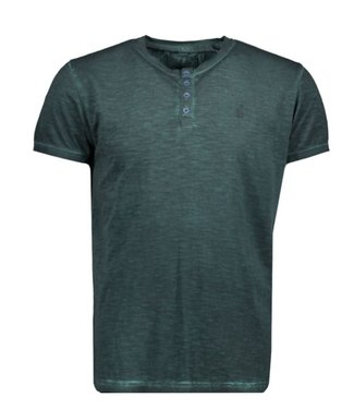 No Excess T-shirt s/sl, Granddad, inside cold Dk Seagreen 90350419