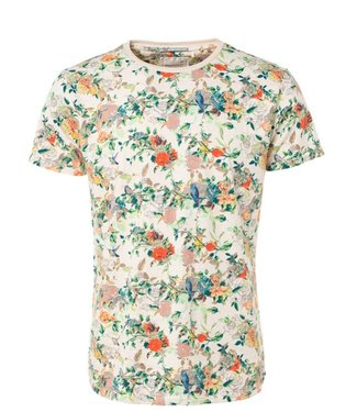 No Excess T-shirt s/sl, R-Neck, multi col AO ecru mele 91350432