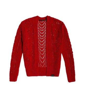 Superdry Amira textured cardigan rood G61101NT