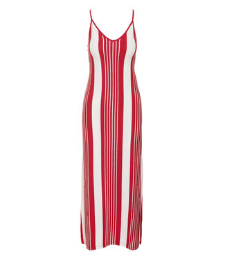 Superdry Azur stripe maxi dress rood G801128ST
