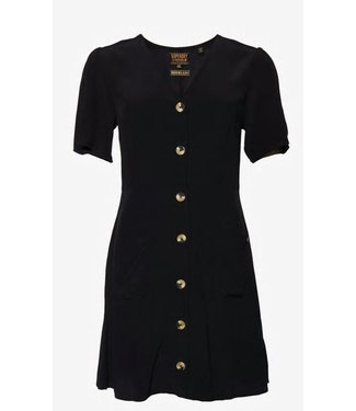 Superdry Darcy button trough dress zwart G80302TU