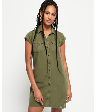 Superdry Nina shirtdress groen G80306MU