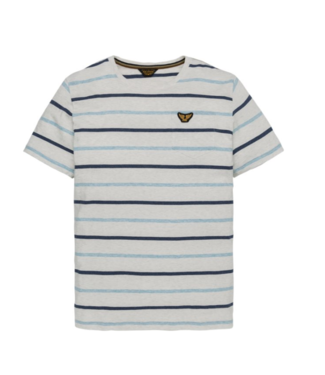 PME Legend Short sleeve r-neck YD Striped Jer Bright White PTSS194538