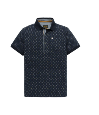 PME Legend Short sleeve polo Single jersey Dark Sapphire PPSS194868