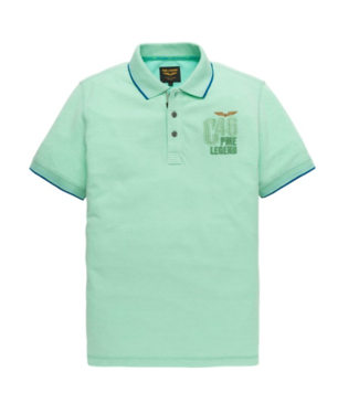 PME Legend Short sleeve polo Two tone pique Opal PPSS194864