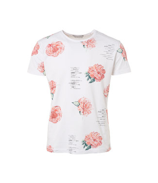 No Excess T-Shirt s/sl, R-neck, AO Printed fl white 91340609