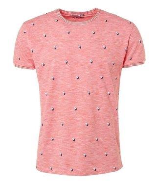 No Excess T-shirt s/sl, R-Neck, slub, AO Prin red 91340508
