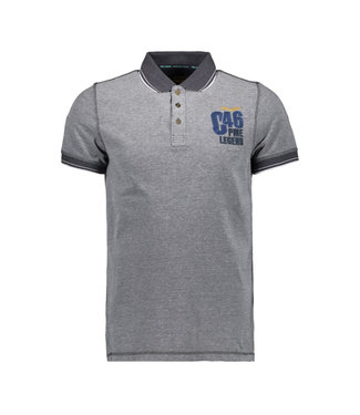 PME Legend Short sleeve polo Two tone pique Dark Sapphire PPSS194864