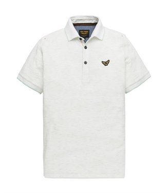 PME Legend Short sleeve polo Structure jacqua Bright White PPSS194863