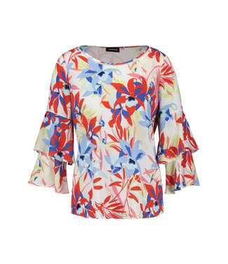 Taifun BLOUSE 3/4-SLEEVE OFF-WHITE PATTERNED 360029-17119