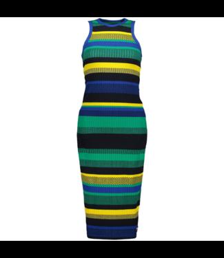 Superdry Knitted stripe midi dress multicolour G80209SU