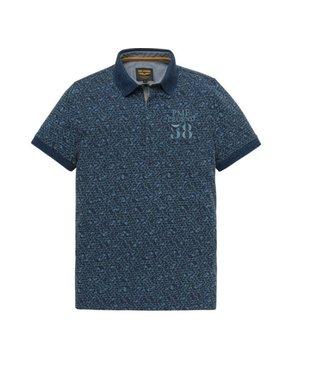 PME Legend Short sleeve polo Single jersey Dark Sapphire PPSS193852