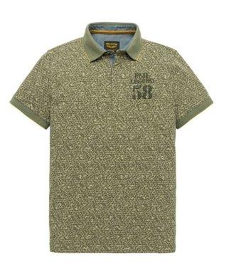 PME Legend Short sleeve polo Single jersey Dusty Olive PPSS193852