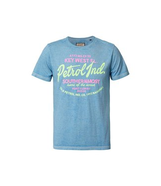 Petrol Industries T-shirt r -neck blauw M-HS19-TSR711