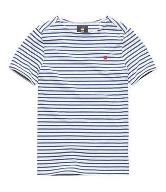 G-Star Xartto t-shirt blauw/wit D12994-B343-8471