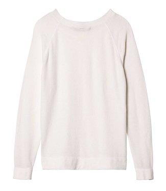 10Days Sweater velvet off white 20-607-9103