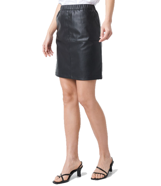 NA-KD Pu zip mini skirt zwart 1018-002536