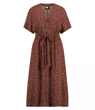 Dress Rusty bruin 1902033402