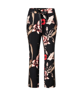 Yaya Trousers with floral print PURE WHITE 120165-921