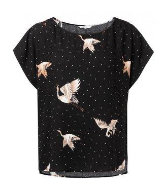 Yaya T-shirt with Japanese print black 1901202-921
