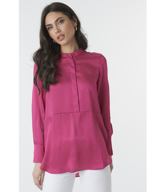 NA-KD Button up satin tunic roze 1018-002383