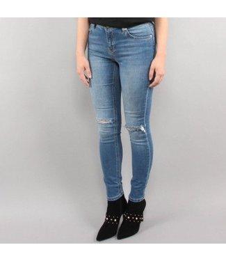 NA-KD Skinny midrise ankle jeans blauw 1018-002357