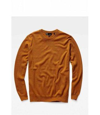G-Star Core r knit l/s bruin D14543-B692-A493