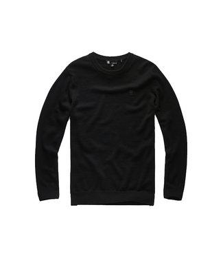 G-Star Core r knit l/s zwart D14543-B692-6484