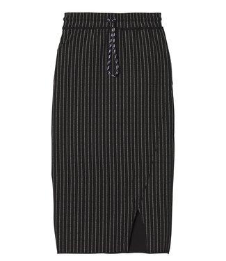 10Days Asymmetrical skirt text zwart 20-101-9103