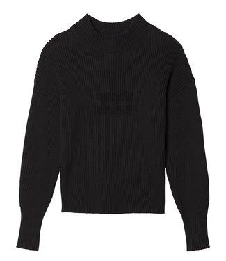 10Days Sweater rib zwart 20-604-9103
